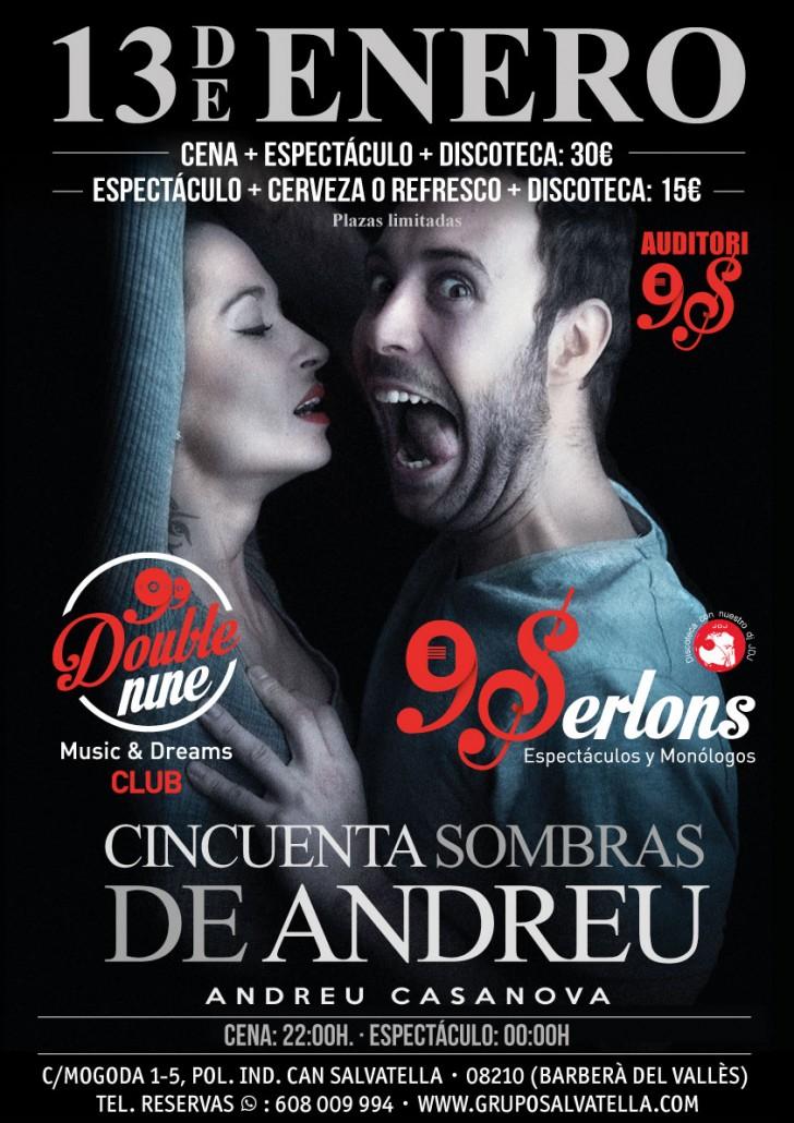 Espectáculo 50 sombras de Andreu